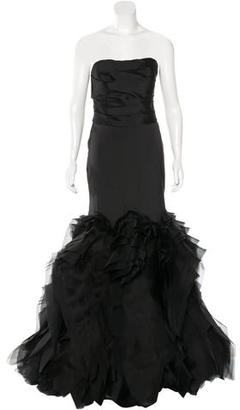 Vera Wang Sleeveless Silk Gown $1,095 thestylecure.com
