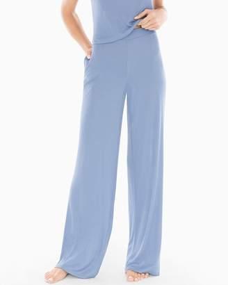 Sleep Therapy Wide Leg Pajama Pants Blue Stone