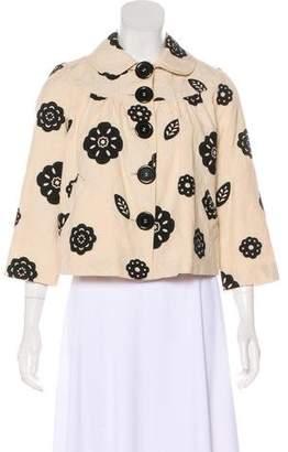 Tibi Jacquard Button-Up Jacket