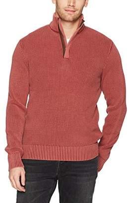 Lucky Brand Men's Half Zip Mock Neck Sweater