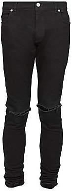 Balmain Men's Distressed Skinny Jeans