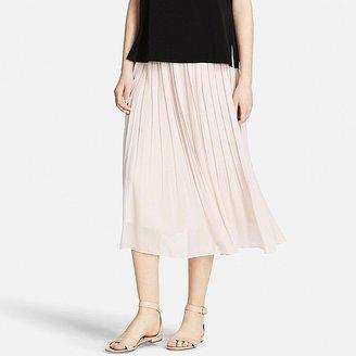 UNIQLO Women's High Waist Chiffon Pleated Skirt $29.90 thestylecure.com