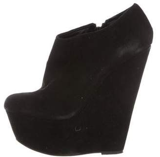 Carvela Suede Wedge Ankle Boots