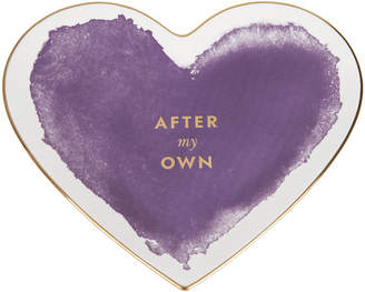 Kate Spade Posy Court Heart Dish - Purple