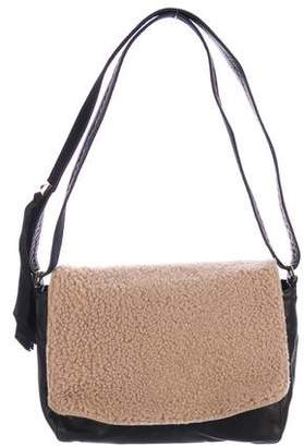 Clare Vivier Shearling Shoulder Bag
