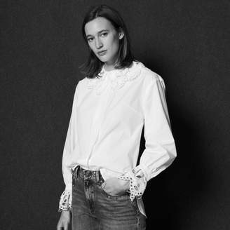 Sandro Shirt with broderie anglaise collar