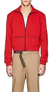 Oamc Men's Compact Knit Crop Track Jacket-Red Size M