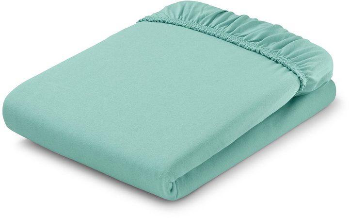 Jersey-Spannbettlaken, für Matratzen von 90 x 190 bis 100 x 200 cm