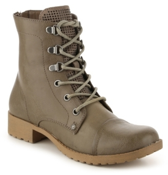 G by GUESS Baysic Bling Combat Boot $79 thestylecure.com