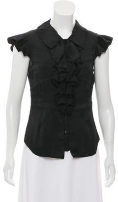 Zac Posen Silk Ruffled Top