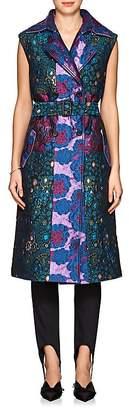 BYT Women's Jacquard Belted Vest