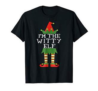 I'm The Witty Elf Shirt Funny Matching Christmas Costume