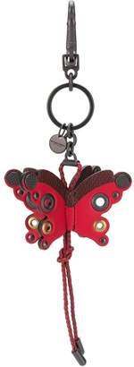 Bottega Veneta butterfly charm key ring