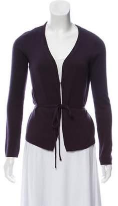Marni Cashmere Belted Cardigan Purple Cashmere Belted Cardigan