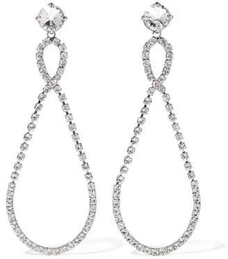Miu Miu - Silver-tone Crystal Clip Earrings