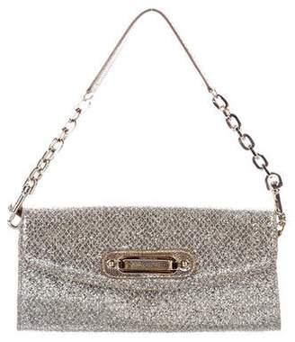 Jimmy Choo Chain-Link Glitter Shoulder Bag
