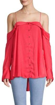 Free People Walk This Way Cold-Shoulder Top