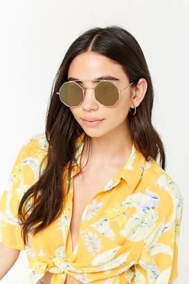 Forever 21 Hexagon Brow-Bar Sunglasses
