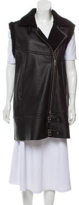 MM6 MAISON MARGIELA MM6 by Maison Martin Margiela Faux Leather Fur-Lined Vest