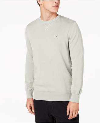 Tommy Hilfiger Men's Signature Solid Crew-Neck Classic Fit Sweater
