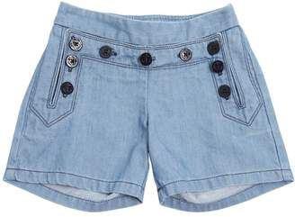 Chloé Light Denim Shorts W/ Buttons