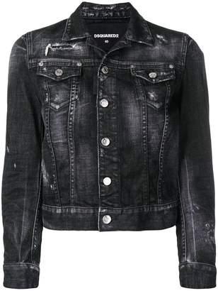 DSQUARED2 Rock Skull denim jacket