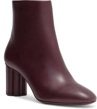 Salvatore Ferragamo Molfetta 70 leather burgundy booties