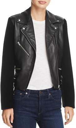 Veda Puzzle Leather and Velvet Jacket