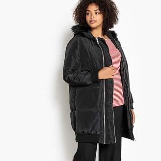CASTALUNA PLUS SIZE Faux Fur Hood Padded Jacket