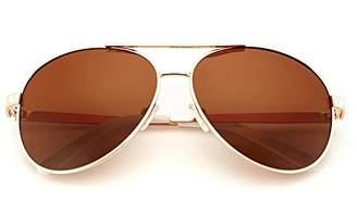 Revo LotFancy Polarized Aviator Sunglasses for Men with Case, 61mm Lens, Metal Frame, 100% UV 400 Protection (, Mirrored)