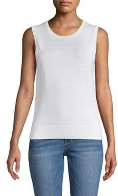 Saks Fifth Avenue Cotton, Silk & Cashmere Sleeveless Shell
