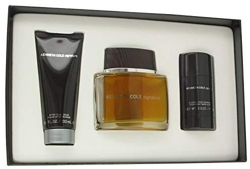 Kenneth Cole Signature by Gift Set - 3.4 oz Eau De Toilette Spray + 2.6 oz Deodorant Stick + 3.4 oz After Shave Balm for Men