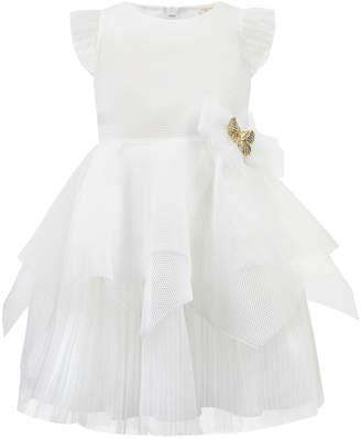 Techno Dress w/ Handkerchief Peplum Skirt, Size 4-8