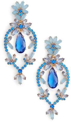 Kate Spade Floral Statement Drop Earrings