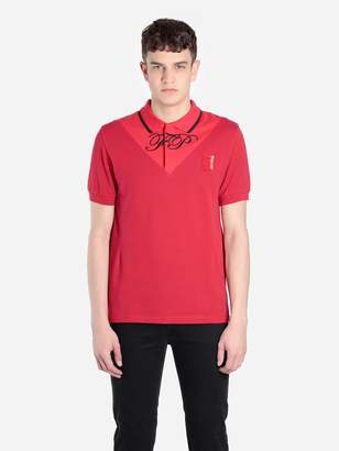 Raf Simons Fred Perry X FRED PERRY X MEN'S RED V-INSERT POLO SHIRT