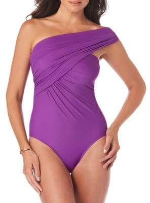 Magicsuit One-Piece Solid Goddess Convertible Control Swimsuit