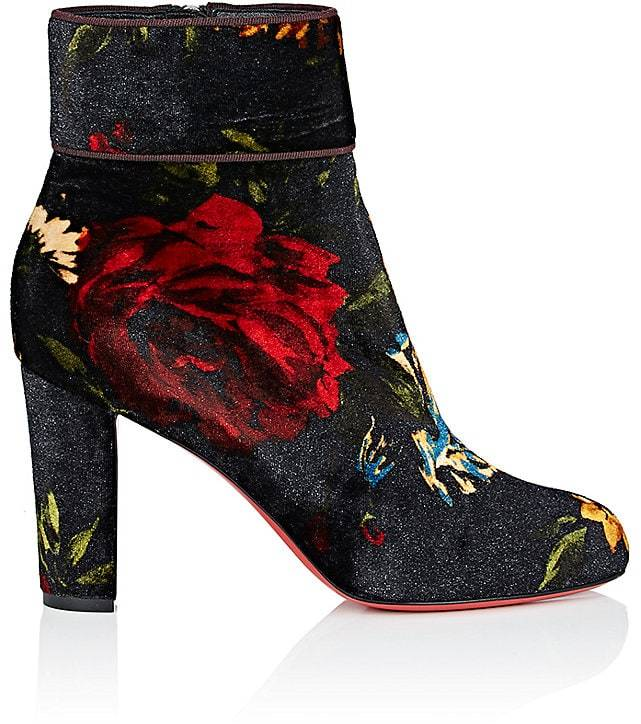 Christian Louboutin Women's Moulamax Velvet Ankle Boots