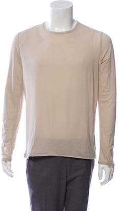 Helmut Lang Long Sleeve Scoop Neck Shirt