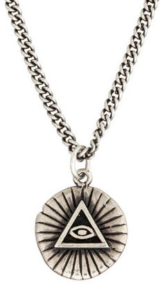 King Baby Studio Sterling All Seeing Eye Coin Pendant Necklace $125 thestylecure.com