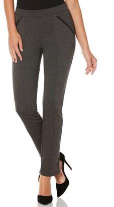 Rafaella Women's Tech Ponte Slim Fit Pant