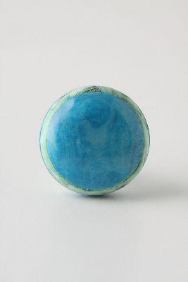 Anthropologie Blue-Sage Osteon Knob