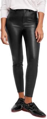 Free People Long & Lean Faux-Leather Pants