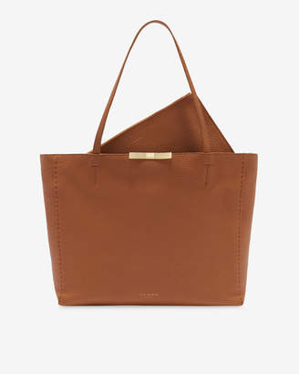 Ted Baker CAULLIE Bow detail leather shopper bag