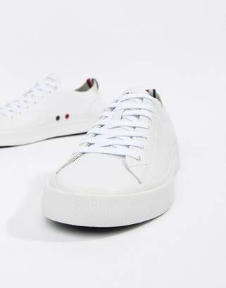 Tommy Hilfiger Unlined Low Cut Lightweight Leather Sneakers in White