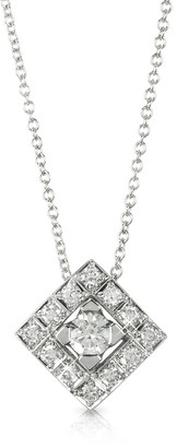 Forzieri 0.45 ctw Diamond 18K White Gold Pendant Necklace