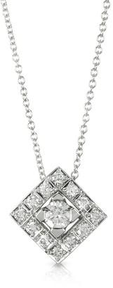 Forzieri 0.45 ctw Diamond 18K White Gold Pendant Necklace