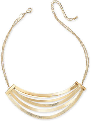 "INC International Concepts I.n.c. Gold-Tone Multi-Bar Statement Necklace, 17"" + 3"" extender, Created for Macy's"