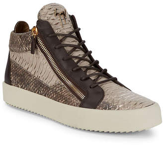 Giuseppe Zanotti Croc-Embossed Patent Leather Sneaker