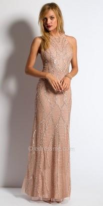 Camille La Vie Sequin Halter Evening Dress $260 thestylecure.com