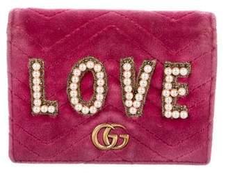 Gucci Velvet Marmont Wallet